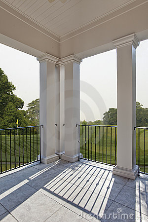 Porch overlooking golf course