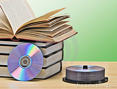 Pile of books and DVD
