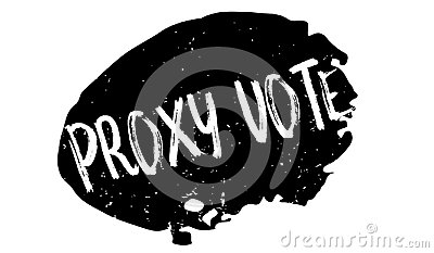 Proxy Vote rubber stamp