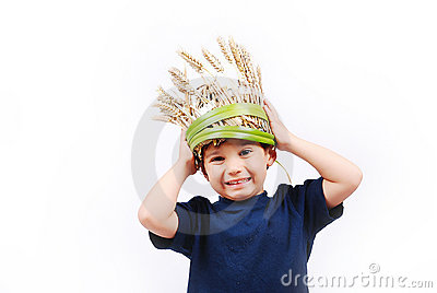 Cute boy with funny hat