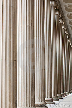 Fluted Stone Columns