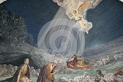 Angel of the Lord visited the shepherds and informed them of Jesus` birth