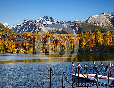Colorful Fall Scenery, Reflection at Lake, Mountain Landscape