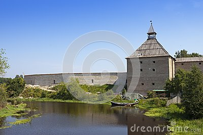 Russia. Old ladoga. Fortress. The first fortress has been constructed at the time of Prophetic Oleg