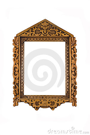 Frame for picture or portrait isolated over white