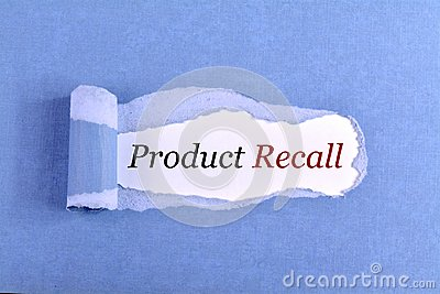 The text Product Recall