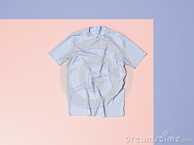 stock image of blank t-shirt. 3d rendering