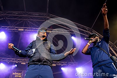 Section Boyz rap band perform in concert at Sonar Festival
