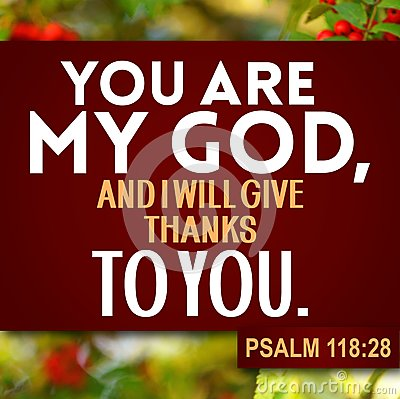 Thanksgiving Psalm 118:28