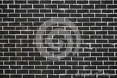 Old dark brick wall texture or background
