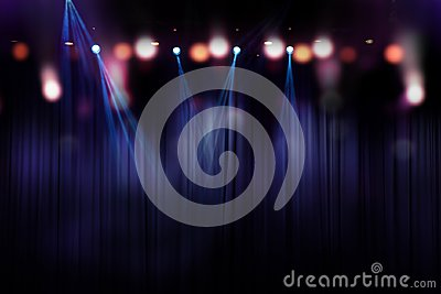 Blurred lights on stage, abstract of concert lighting