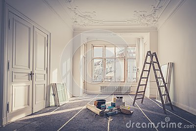 Renovation - apartment during  restoration - home improvement