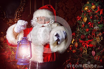 stock image of fairytale santa claus