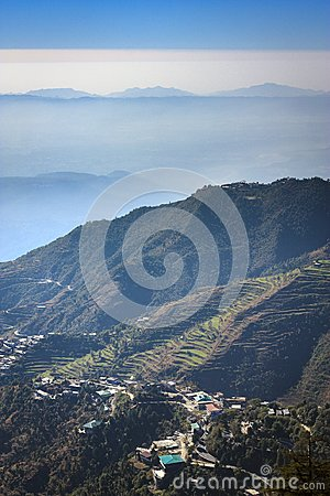 Astonishing valley view from Mussoorie mall road