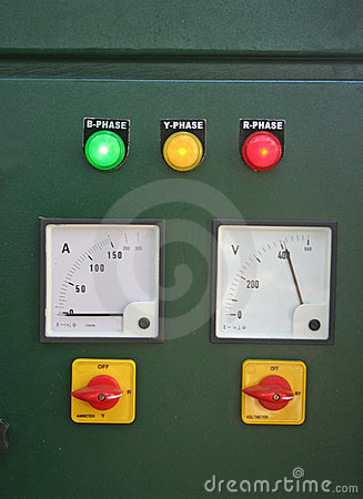 Electric panel and  main switch board lights