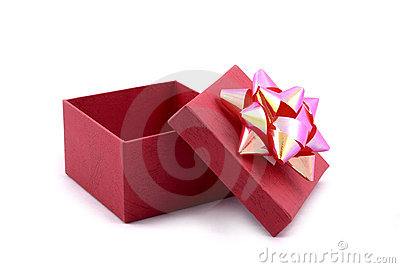 Red Gift Box with Big Ribbon