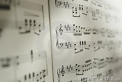 Sheet of musical notes