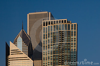 Chicago city view - including AON Tower