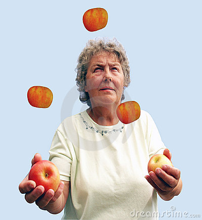 Mature Lady Juggling her diet
