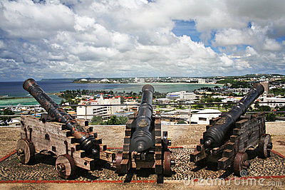 Cannons in Hagatna Bay Guam