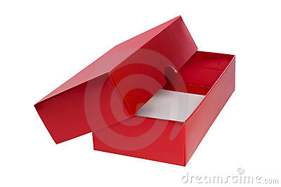 Red open present box