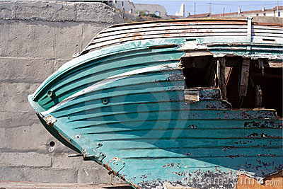 Boat with hole