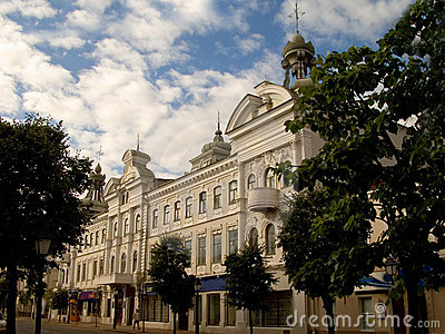 Streets of city of Kazan - historical buildings