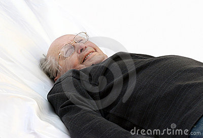 Old man in bed
