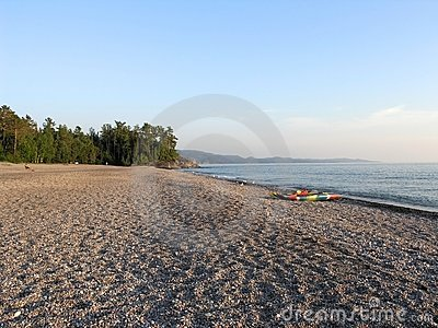 Agawa Bay Beach During Evening