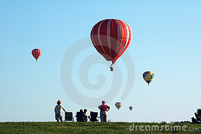 Hot air balloons over Iowa