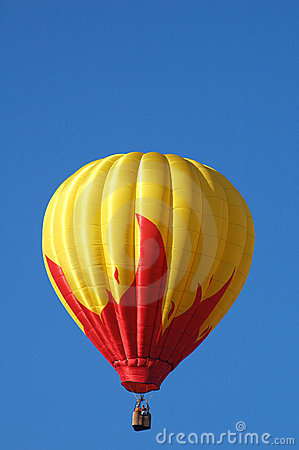 Hot air balloon over Iowa