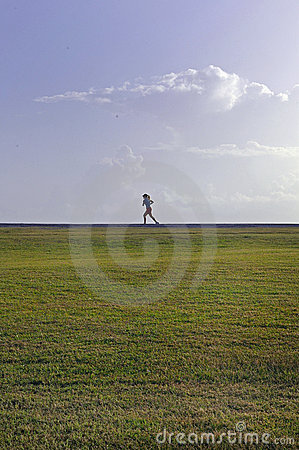 Lone morning Runner