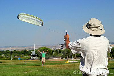 Men with kite
