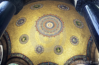Mosaic golden dome