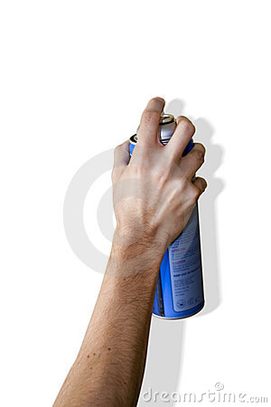 Hand Spraying with a can