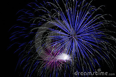 Bright Blue Fireworks