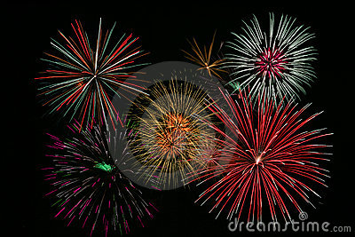 Bright Colorful Fireworks