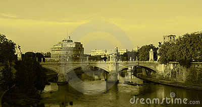 Rome - View of Castel Sant'Angelo