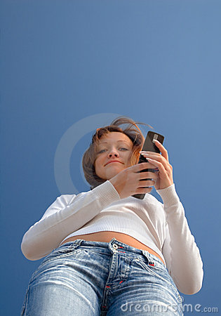 Girl with a mobile phone-2