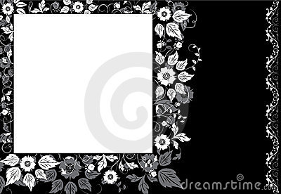 Framed background flower, elements for design, vector