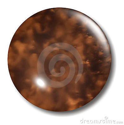 Tortoise Shell Button Orb