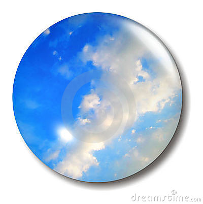 Blue Sky Button Orb