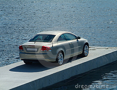 Car parked on a pier