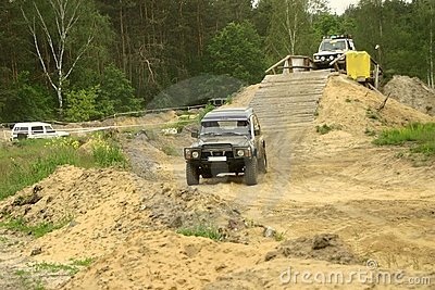 Nissan patrol during off-road competition