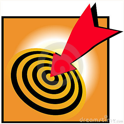 Bulls eye bullseye success