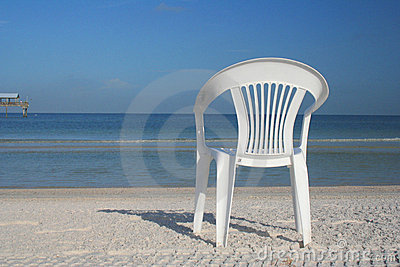 Lonely chair at the beach