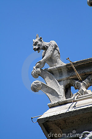 Gargoyle on a balcony