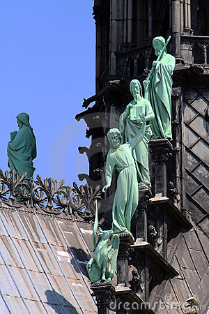Statues on a cathedral roof