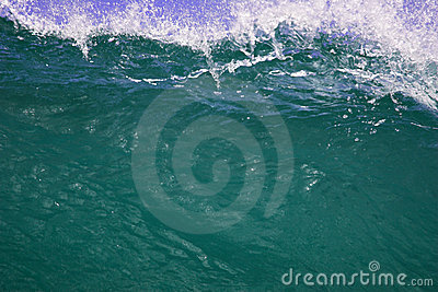 Closeup of cresting Wave