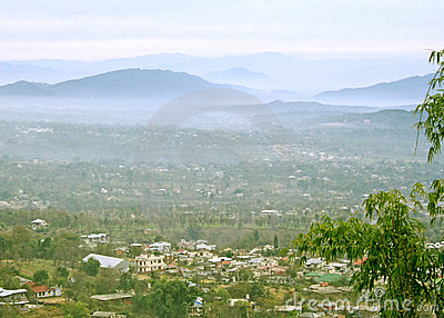 Misty moors, rolling hills and kangra valley from dharamsala In